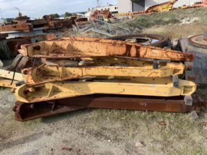 Used parts for sale by BTP Group - Caterpillar 12G drawbar and yoke assembly