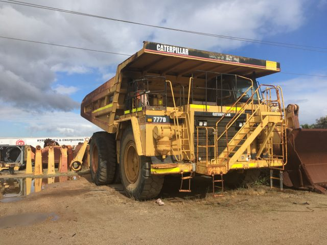 Dismantling now by BTP Group - Caterpillar 777D Truck