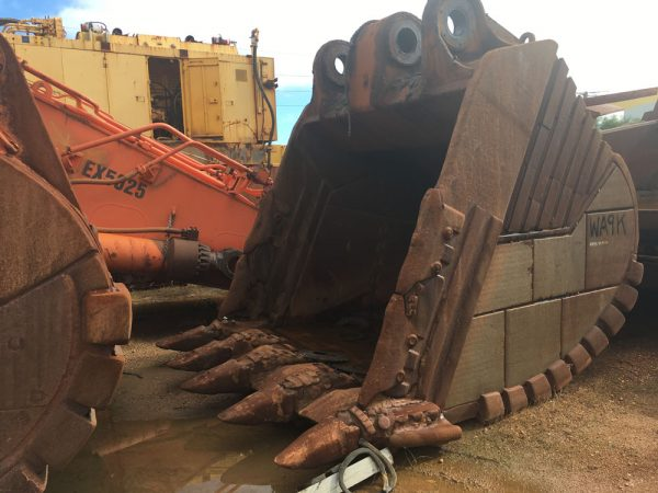 Used parts for sale by BTP Group Hitachi EX2500 bucket