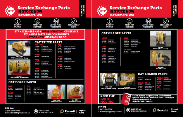BTP WA Service Exchange - IN STOCK NOW - Apr-May 2020