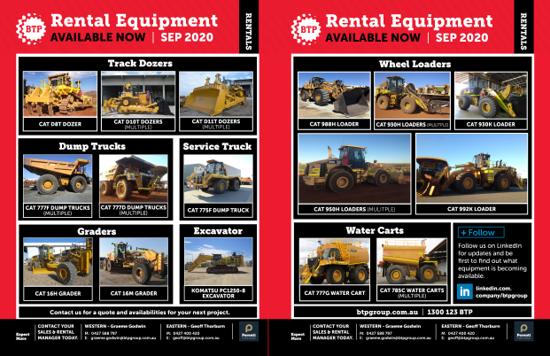 BTP Rental Equipment - National - Sep 2020